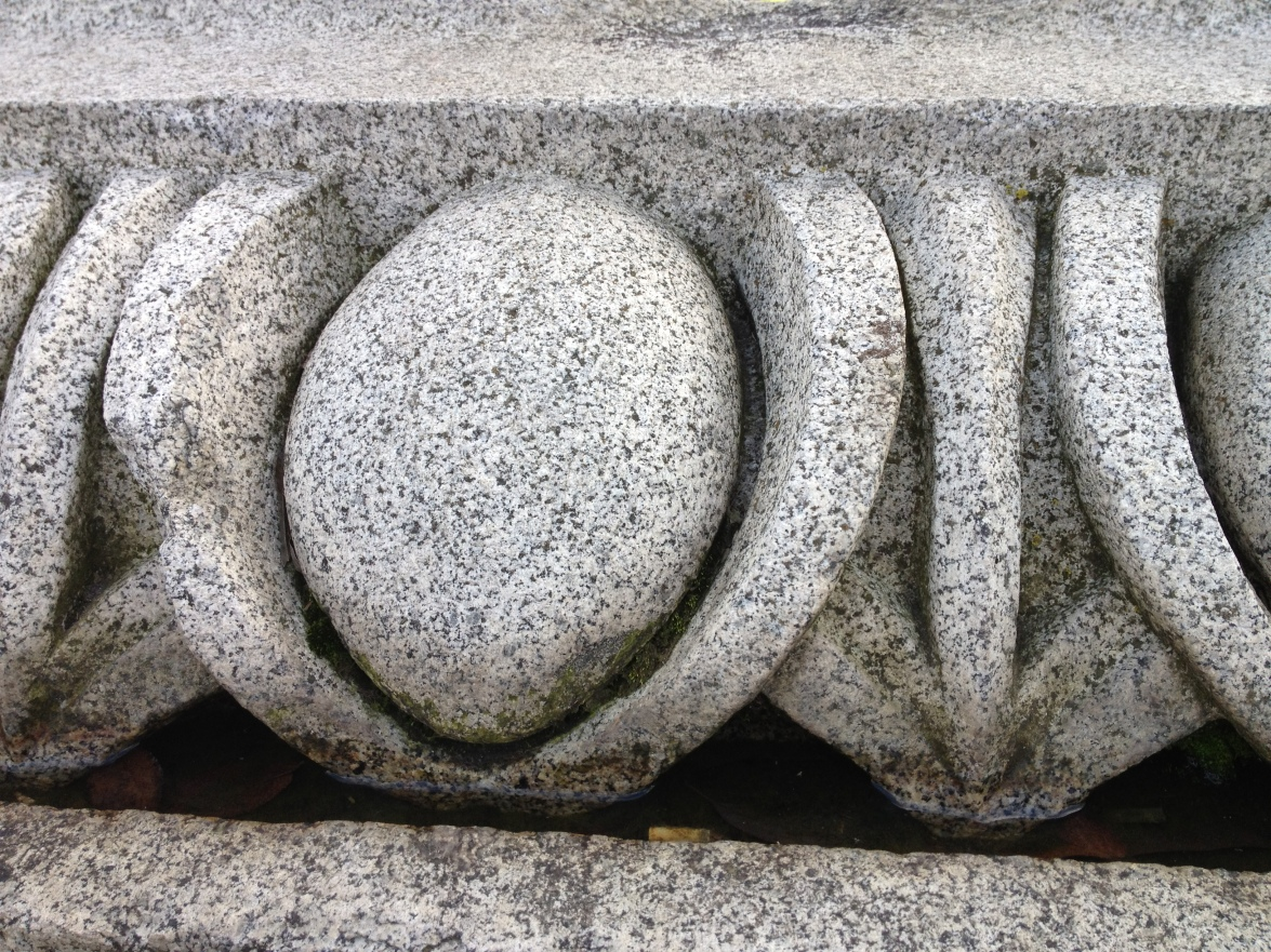 Granite fragments