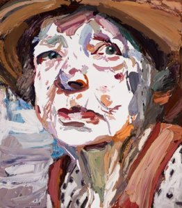 2011 Ben Quilty, artist Margaret Olley, title 170cm x 150cm
