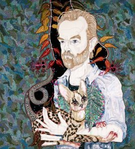 2013 Del Kathryn Barton, artist Hugo, title Portrait of the actor, Hugo Weaving